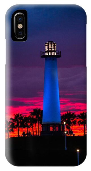 Light House In The Firey Sky IPhone Case