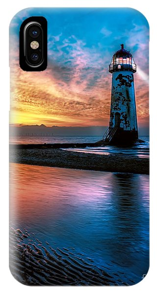 Tidal iPhone Case - Light House Sunset by Adrian Evans