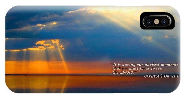 Light Quote Aristotle Onassis IPhone Case