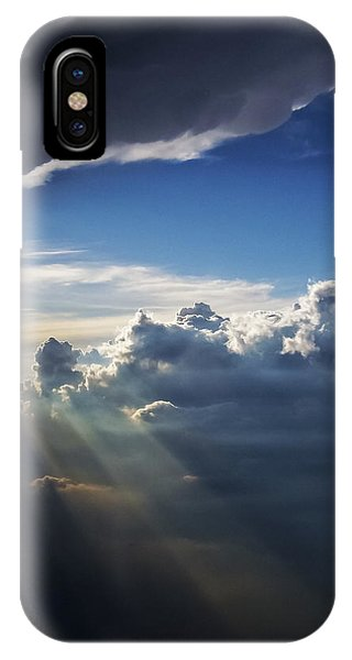 Light Shafts From Thunderstorm II IPhone Case