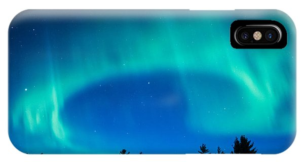 Light Swirl On Rainy Lake IPhone Case