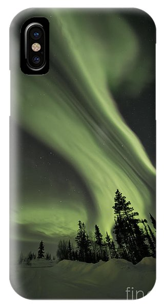 Sky iPhone Case - Light Swirls Over The Midnight Dome by Priska Wettstein