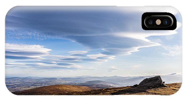 Lightfall On Djouce Mountain Summit IPhone Case