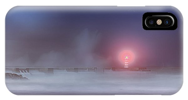 Lighthouse And Big Waves IPhone Case