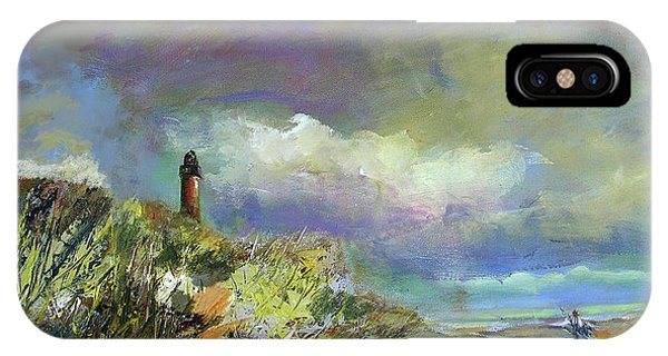 Lighthouse And Fisherman IPhone Case