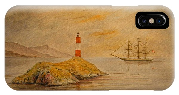 England iPhone Case - Lighthouse At Cornwall by Juan  Bosco