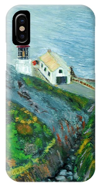Lighthouse At Point Reyes California IPhone Case