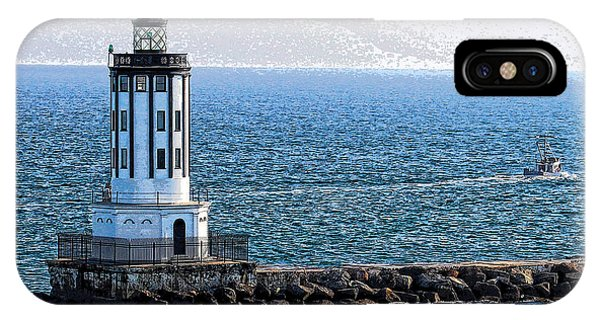Lighthouse At The Port Of Los Angeles IPhone Case