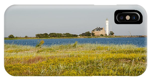 Lighthouse At Yellow Coast IPhone Case