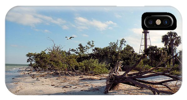 Lighthouse Beach Phone Case by Rosalie Scanlon
