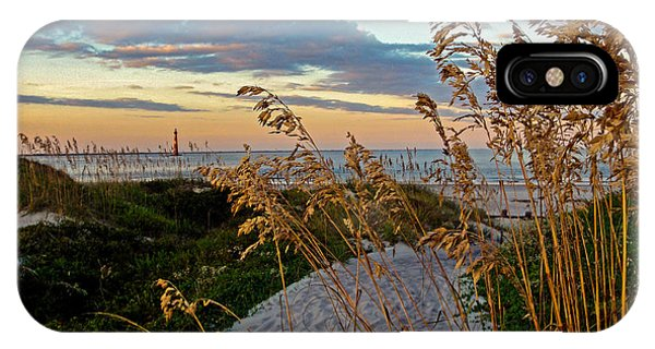 Lighthouse Folly Beach IPhone Case