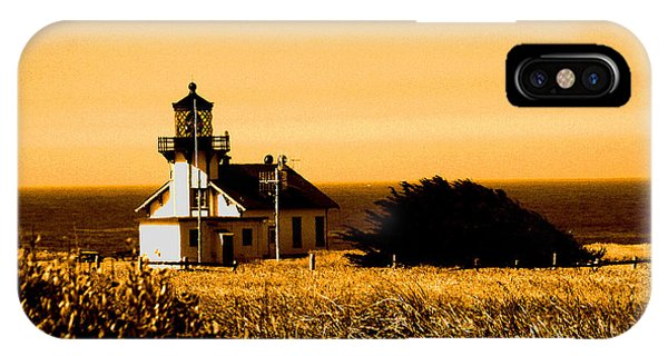 Lighthouse In Autumn IPhone Case