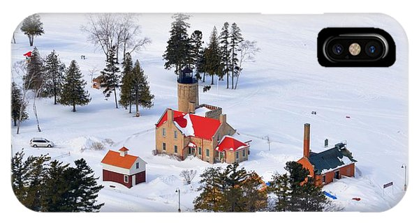 Lighthouse In The Snow IPhone Case