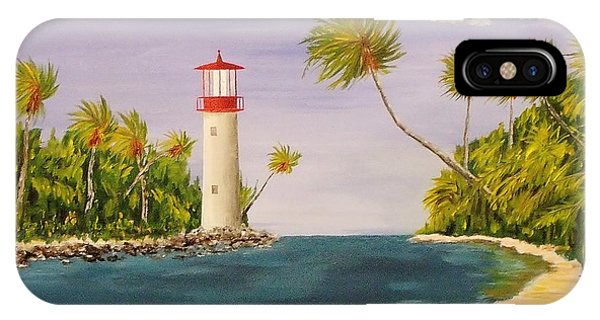 Lighthouse In The Tropics IPhone Case