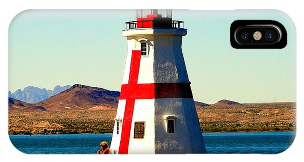 Lighthouse Lake Havasu Phone Case by John Potts