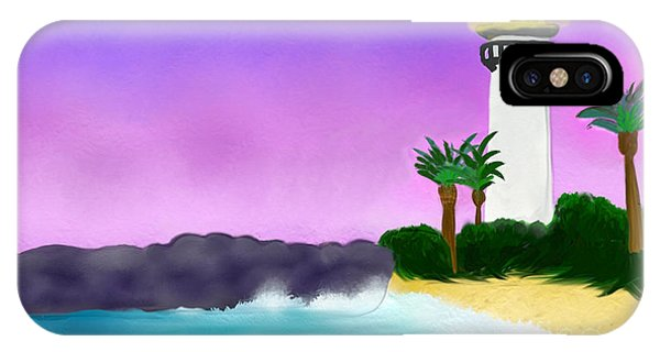 Lighthouse On Beach IPhone Case