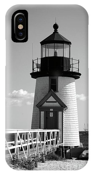 Lighthouse On Nantucket Bw IPhone Case