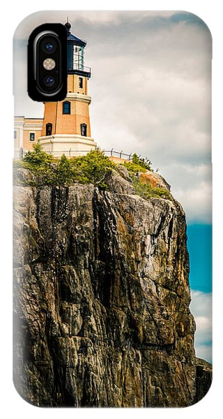 Lighthouse On Split Rock IPhone Case