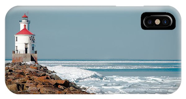Lighthouse On Stone And Ice IPhone Case