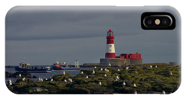 Lighthouse On The Farne Isands Northumberland IPhone Case