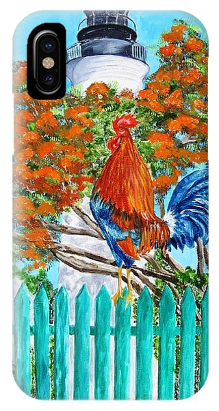 Lighthouse Rooster II IPhone Case