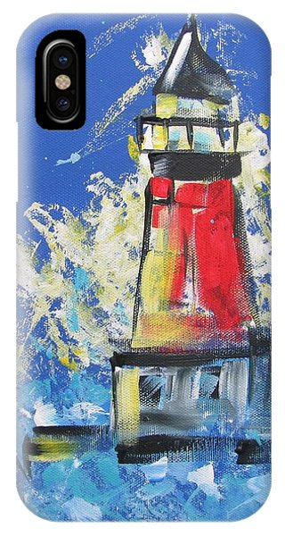 Lighthouse Splash IPhone Case