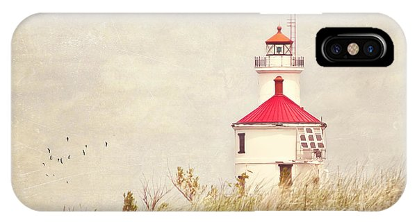 Lighthouse With Red Roof IPhone Case