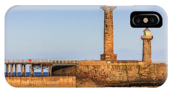 IPhone Case featuring the photograph Lighthouses On The Piers by Susan Leonard