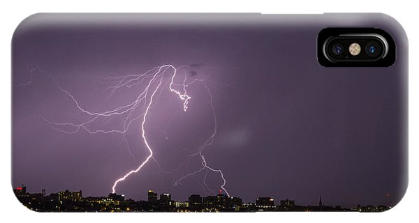 Lighting Over Portland Maine IPhone Case