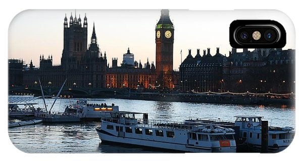 IPhone Case featuring the photograph Lighting Up Time On The Thames by Jeremy Hayden