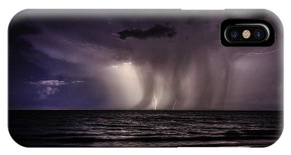 Lightning And Rain IPhone Case