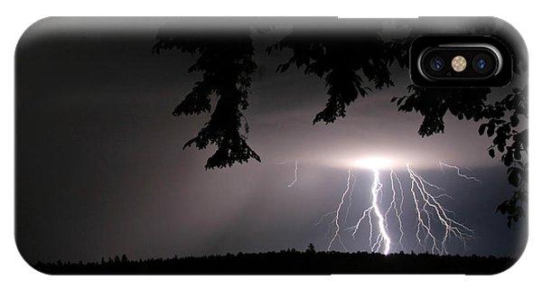Lightning At Night IPhone Case