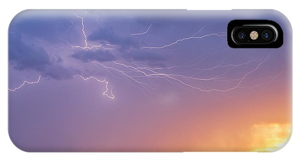Lightning At Sunset IPhone Case