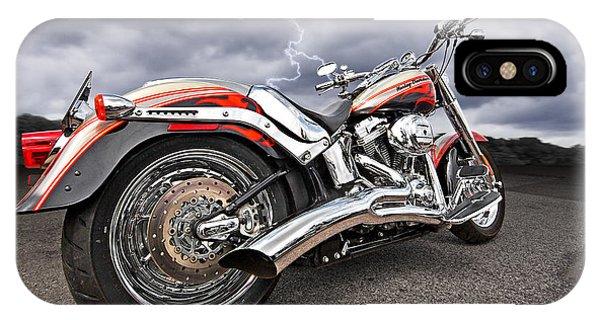 Lightning Fast - Screamin' Eagle Harley IPhone Case