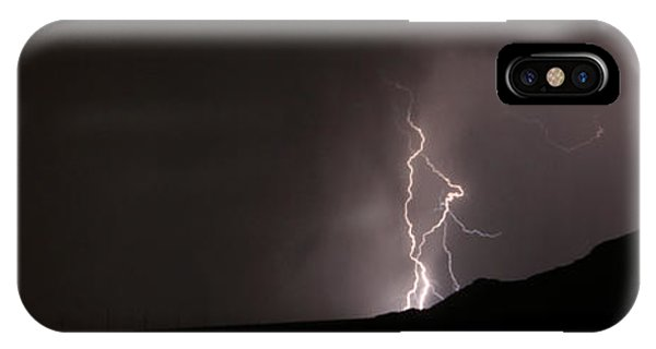 Lightning On The Hill. IPhone Case