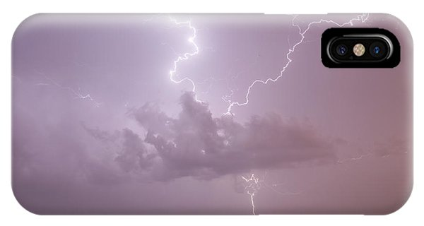Lightning Over Cheyenne Bottoms IPhone Case