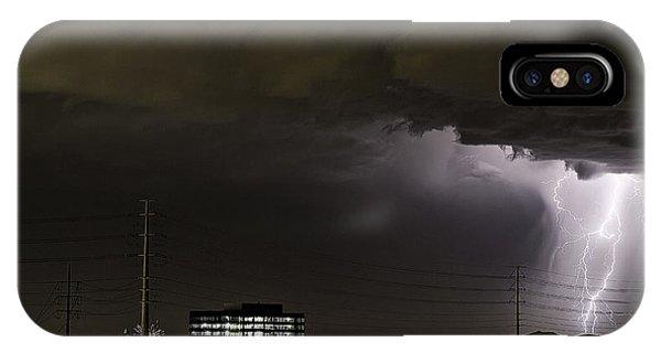 Lightning Over Las Vegas 2 IPhone Case