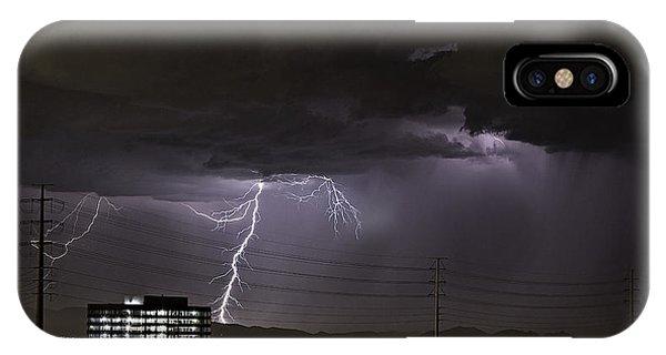 Lightning Over Las Vegas IPhone Case