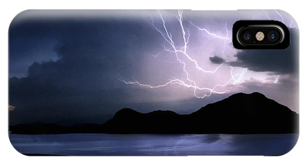 Lightning Over Quartz Mountains - Oklahoma IPhone Case
