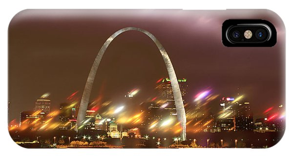 Lightning Over The Arch IPhone Case