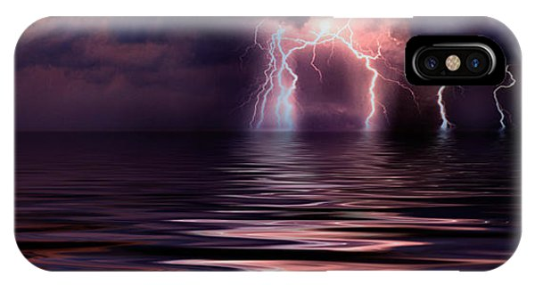 Lightning Over The Sea IPhone Case