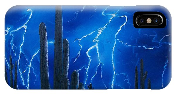 Lightning  Over The Sonoran IPhone Case