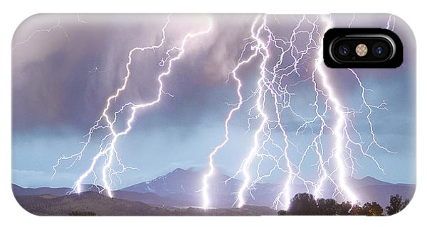Lightning Striking Longs Peak Foothills 4c IPhone Case