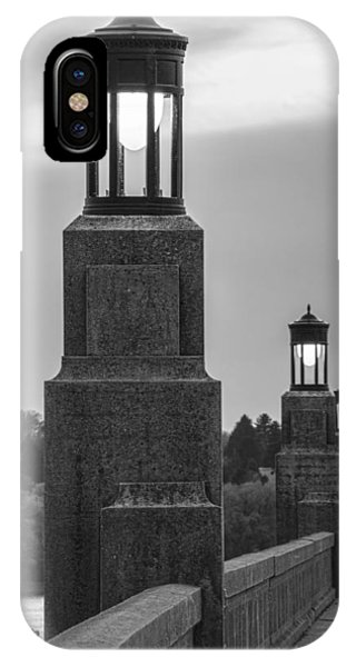 Lights Along The Columbia-wrightsville Bridge In Pennsylvania IPhone Case