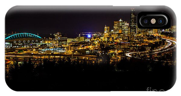 Lights Of Seattle IPhone Case