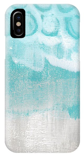 Grey Skies iPhone Case - Like A Prayer- Abstract Painting by Linda Woods