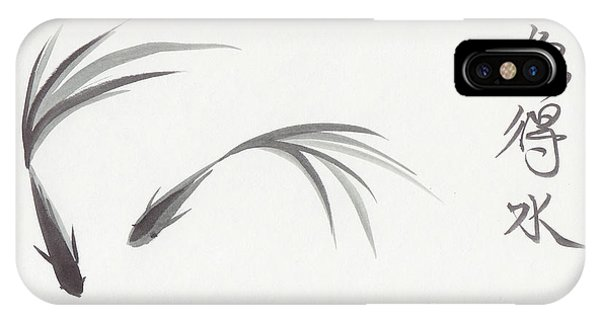 Like Fish With Water IPhone Case