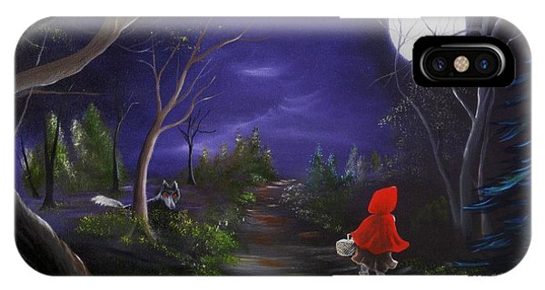 Lil Red Riding Hood Phone Case by RJ McNall