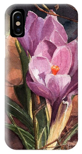 Lilac Crocuses IPhone Case