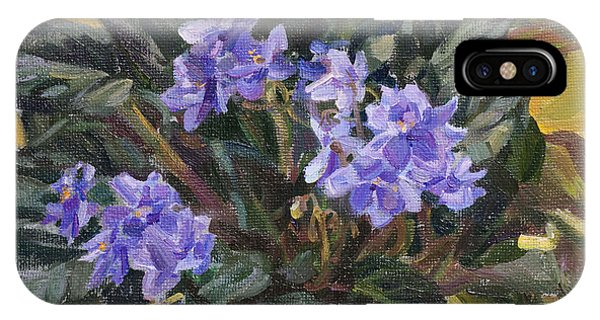 Violet iPhone Case - Lilac Violet by Victoria Kharchenko